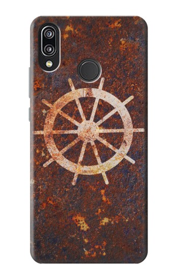 Printed Ship Wheel Rusty Texture Huawei P20 Lite Case