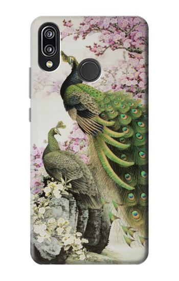 Printed Peacock Chinese Brush Painting Huawei P20 Lite Case