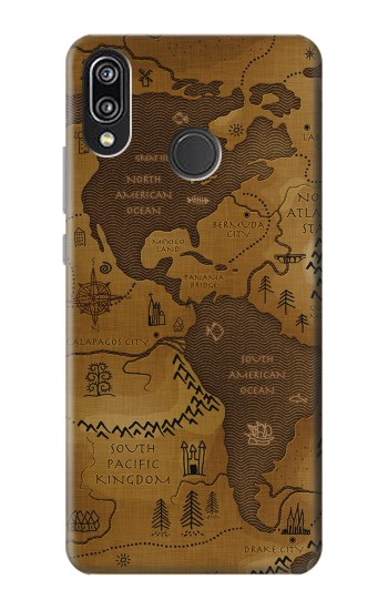 Printed Antique Style Map Huawei P20 Lite Case