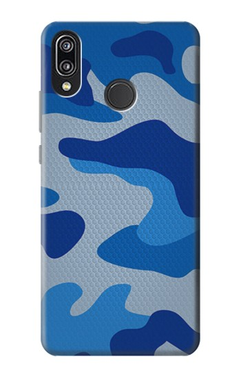 Printed Army Blue Camouflage Huawei P20 Lite Case