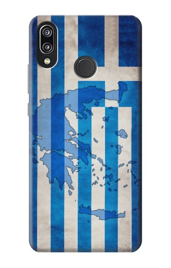 Printed Greece Map Flag Huawei P20 Lite Case