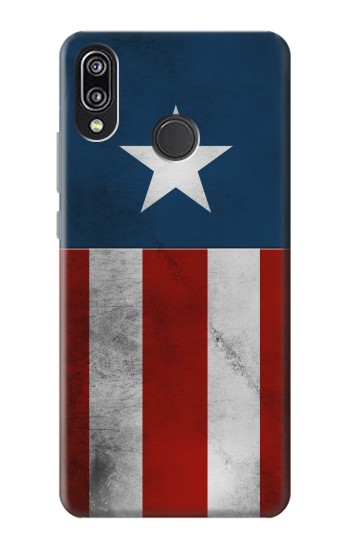 Printed Captain Star Flag of America Huawei P20 Lite Case