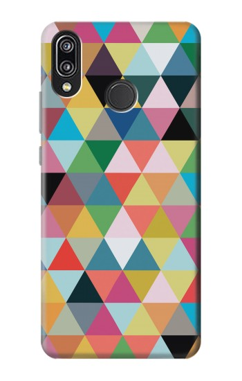 Printed Triangles Vibrant Colors Huawei P20 Lite Case