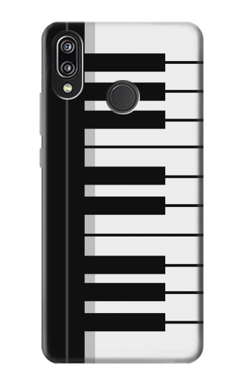 Printed Black and White Piano Keyboard Huawei P20 Lite Case