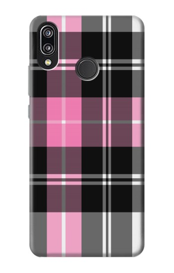 Printed Pink Plaid Pattern Huawei P20 Lite Case