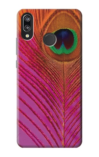 Printed Pink Peacock Feather Huawei P20 Lite Case