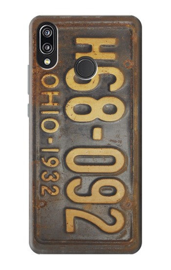 Printed Vintage Car License Plate Huawei P20 Lite Case