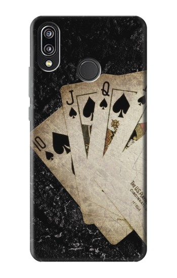 Printed Vintage Royal Straight Flush Cards Huawei P20 Lite Case