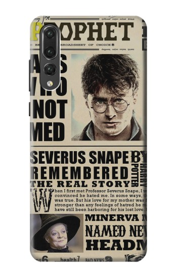 Printed Harry Potter Daily Prophet Huawei P20 Pro Case