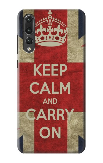 Printed Keep Calm and Carry On Huawei P20 Pro Case