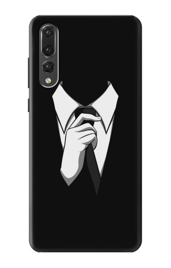 Printed Anonymous Man in Black Suit Huawei P20 Pro Case