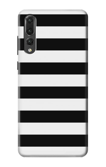 Printed Black and White Striped Huawei P20 Pro Case