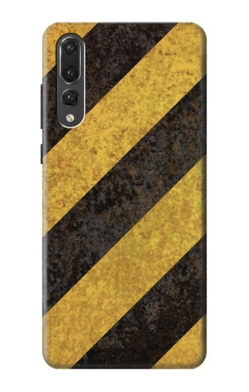 Printed Yellow and Black Line Hazard Striped Huawei P20 Pro Case