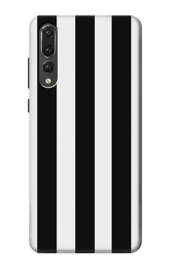 Printed Black and White Vertical Stripes Huawei P20 Pro Case