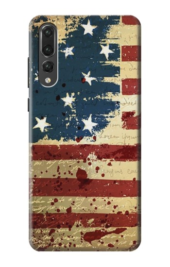 Printed Old American Flag Huawei P20 Pro Case