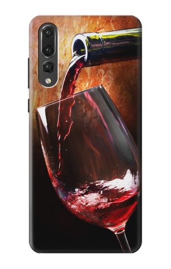 Printed Red Wine Bottle And Glass Huawei P20 Pro Case