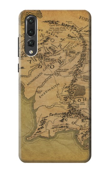 Printed The Lord Of The Rings Middle Earth Map Huawei P20 Pro Case