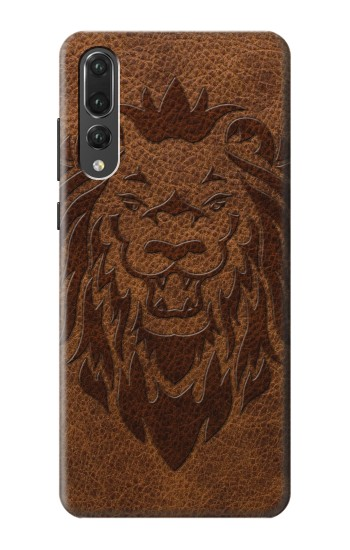 Printed Leo Tattoo Brown Leather Huawei P20 Pro Case