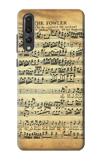 Printed The Fowler Mozart Music Sheet Huawei P20 Pro Case