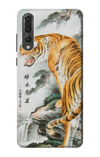 Printed Chinese Tiger Painting Tattoo Huawei P20 Pro Case