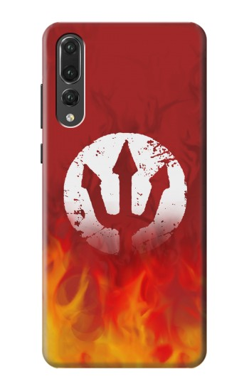 Printed Fire Red Devil Symbol Huawei P20 Pro Case