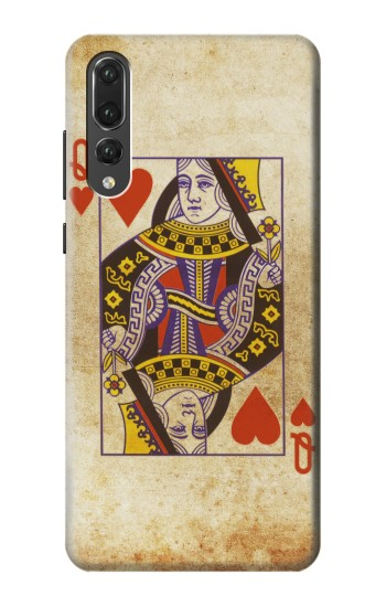 Printed Poker Card Queen Hearts Huawei P20 Pro Case