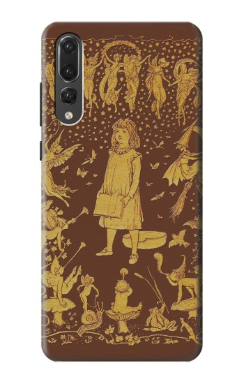 Printed Brown Fairy Book Cover Huawei P20 Pro Case