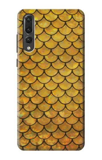 Printed Gold Fish Scale Huawei P20 Pro Case