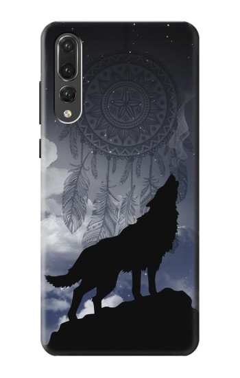 Printed Dream Catcher Wolf Howling Huawei P20 Pro Case