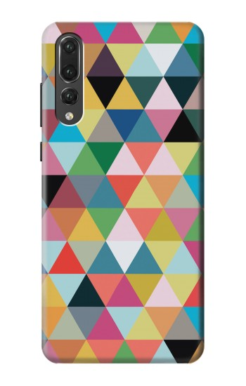 Printed Triangles Vibrant Colors Huawei P20 Pro Case