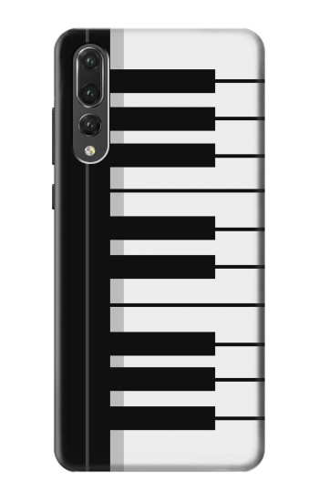 Printed Black and White Piano Keyboard Huawei P20 Pro Case