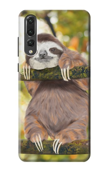 Printed Cute Baby Sloth Paint Huawei P20 Pro Case