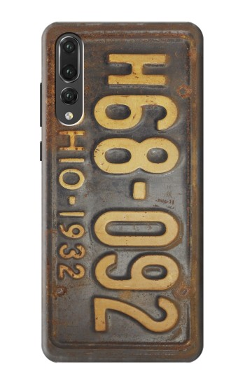 Printed Vintage Car License Plate Huawei P20 Pro Case