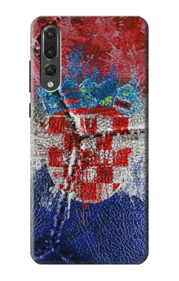 Printed Croatia Flag Vintage Football 2018 Huawei P20 Pro Case