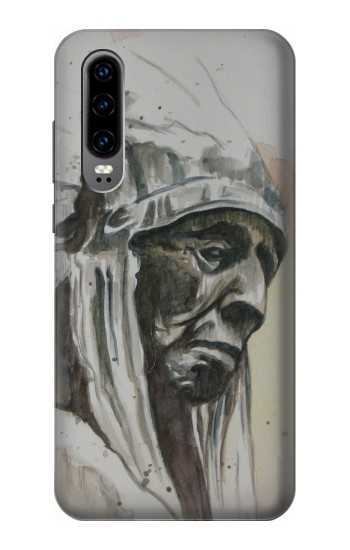 Printed Indian Chief Huawei P30 Case