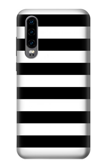 Printed Black and White Striped Huawei P30 Case