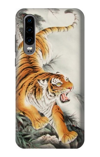 Printed Chinese Tiger Tattoo Painting Huawei P30 Case