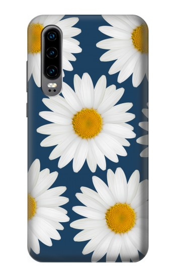 Printed Daisy Blue Huawei P30 Case