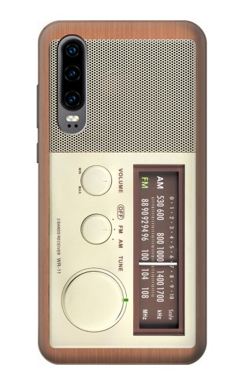 Printed FM AM Wooden Receiver Graphic Huawei P30 Case