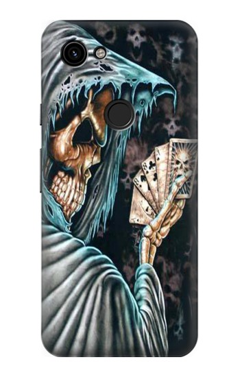 Printed Grim Reaper Death Poker Google Pixel 3a Case