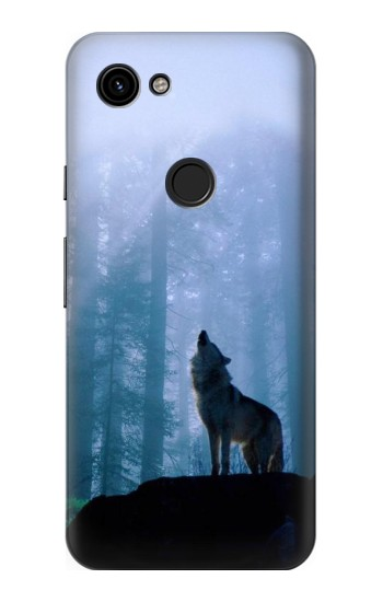 Printed Wolf Howling in Forest Google Pixel 3a Case
