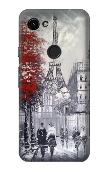 Printed Eiffel Painting of Paris Google Pixel 3a Case