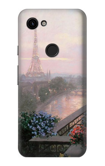 Printed Terrace in Paris Eifel Google Pixel 3a Case