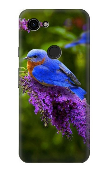 Printed Bluebird of Happiness Blue Bird Google Pixel 3a Case