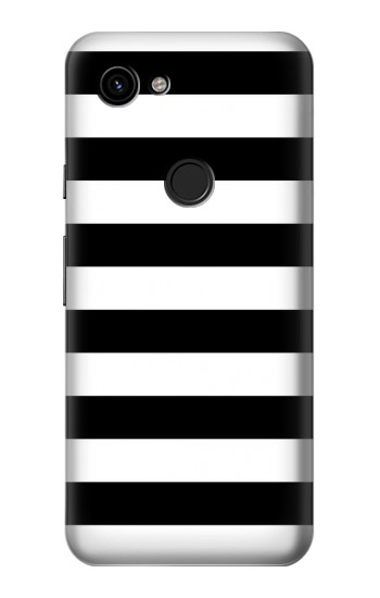 Printed Black and White Striped Google Pixel 3a Case