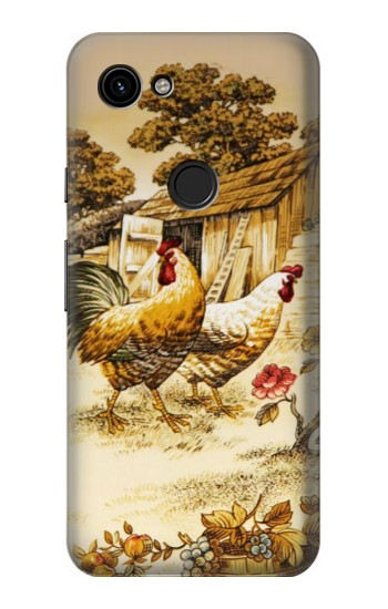 Printed French Country Chicken Google Pixel 3a Case