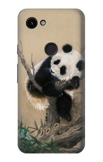Printed Panda Fluffy Art Painting Google Pixel 3a Case