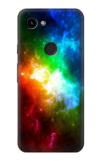 Printed Colorful Rainbow Space Galaxy Google Pixel 3a Case