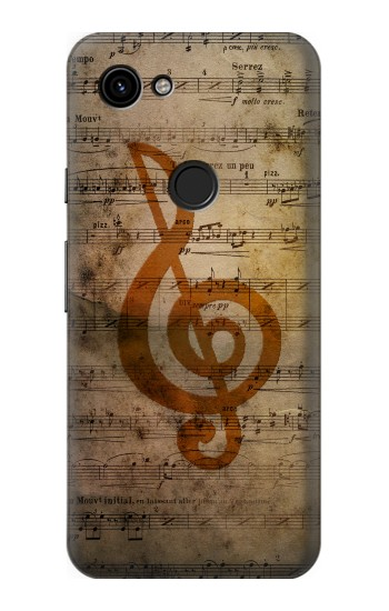 Printed Sheet Music Notes Google Pixel 3a Case