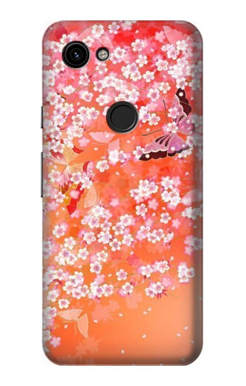 Printed Japanese Style Flower Pattern Google Pixel 3a Case
